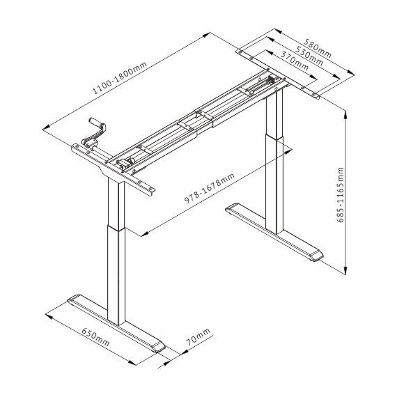 Manual Stand Desk Dimensions
