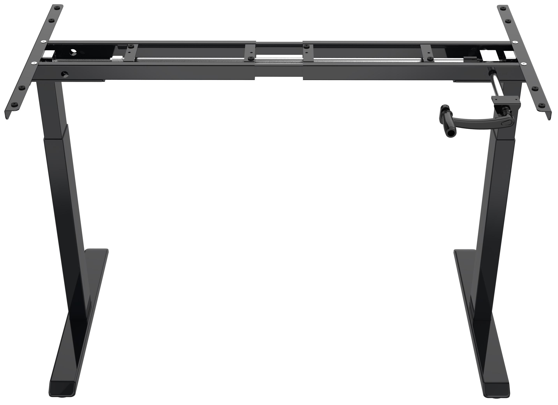 Manual Stand Desk Black Front