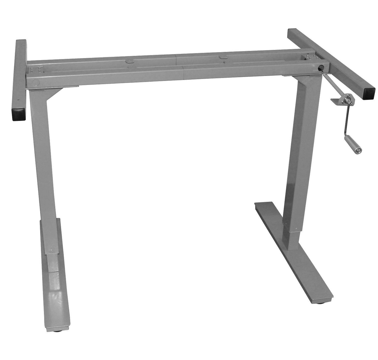 Manual Adjustable Height Desk Frame Rocky Mountain Desks