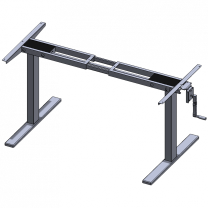 Manual Crank Adjustable Desk Frame