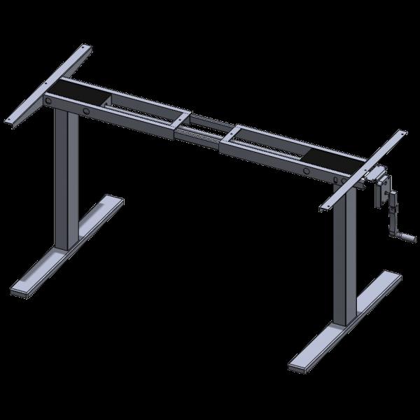 Manual Crank Adjustable Desk Frame