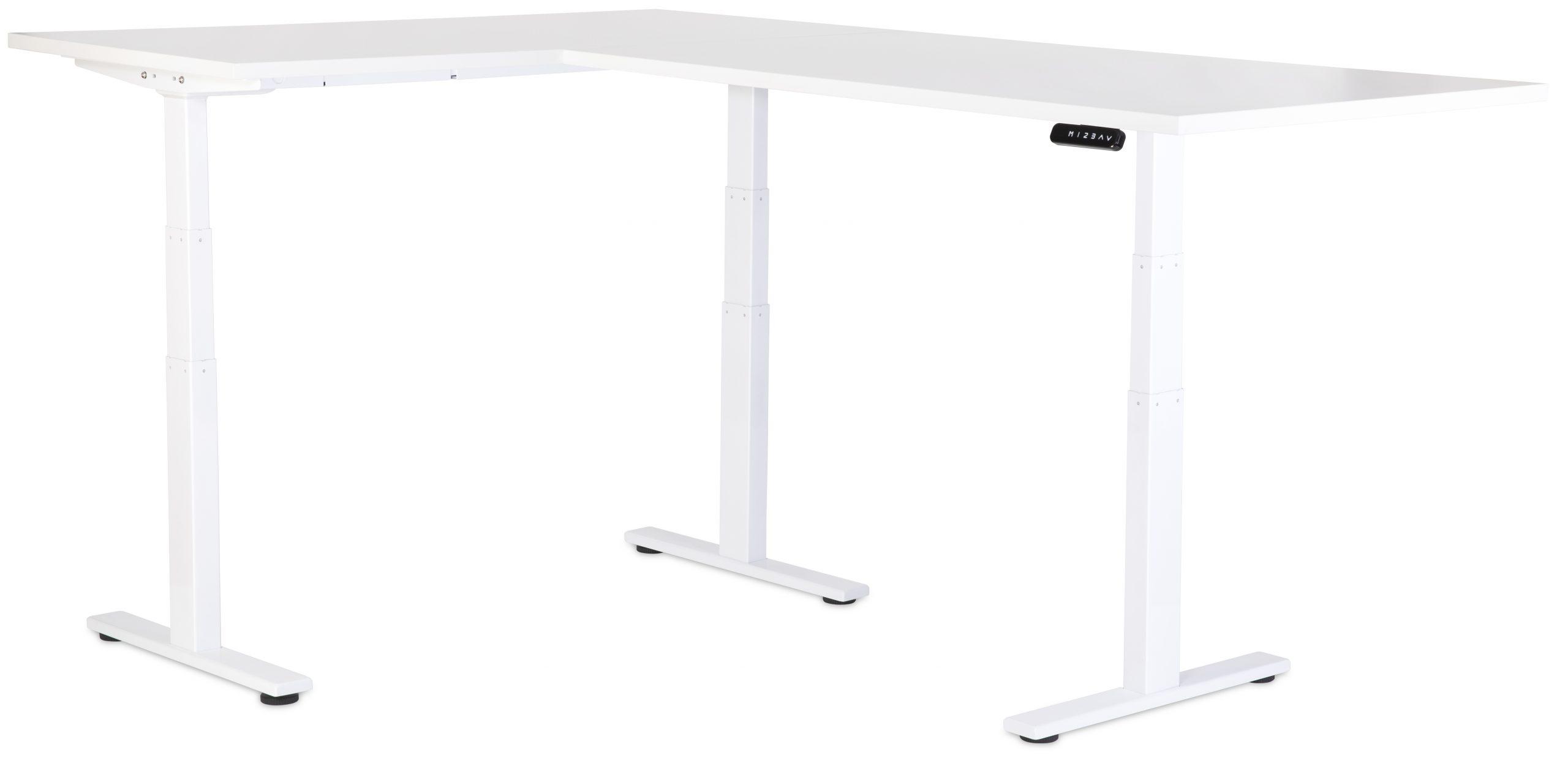 VFlex Standing Desk White with White Desktop