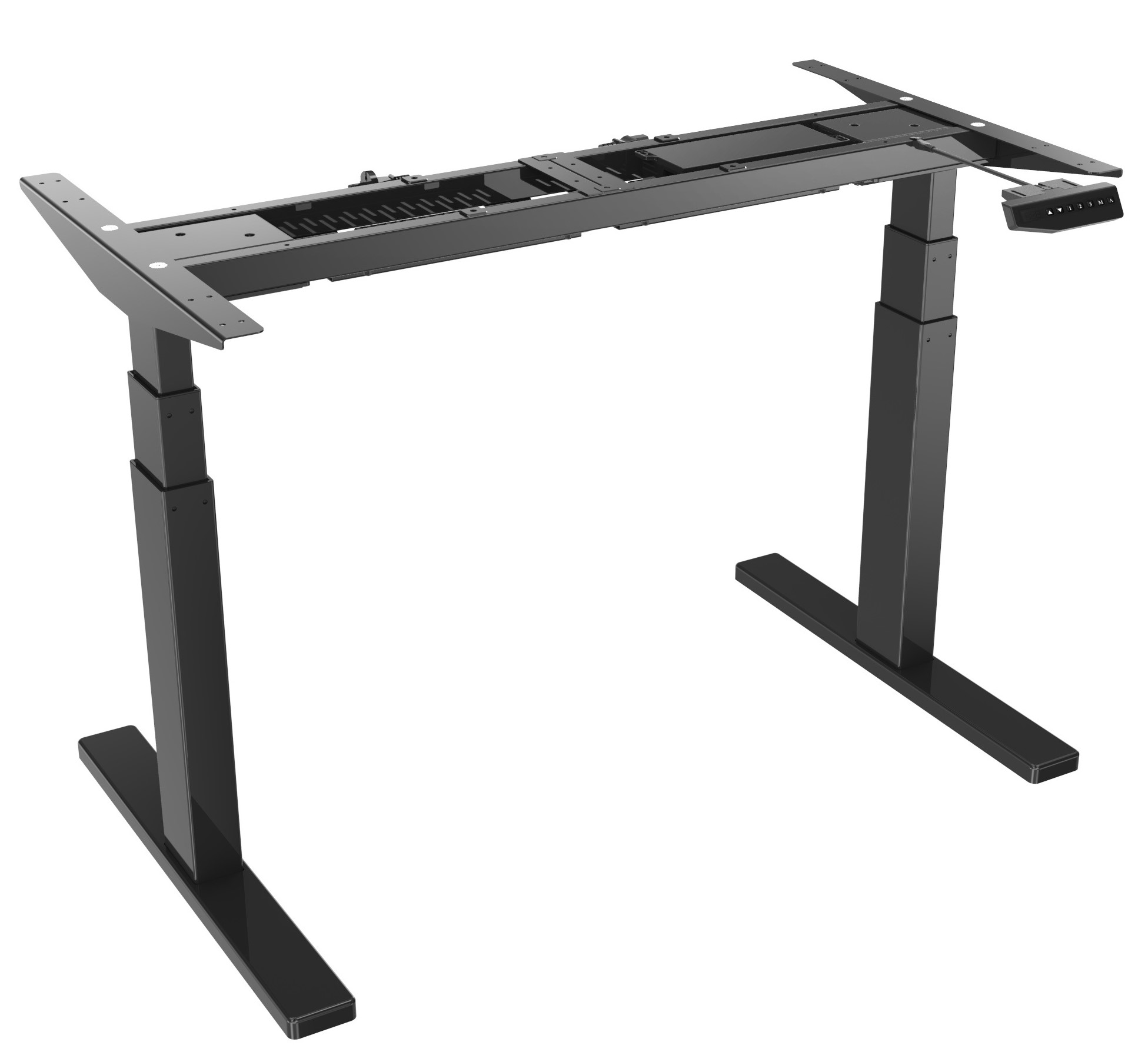 Vantage Black - Stand Desk