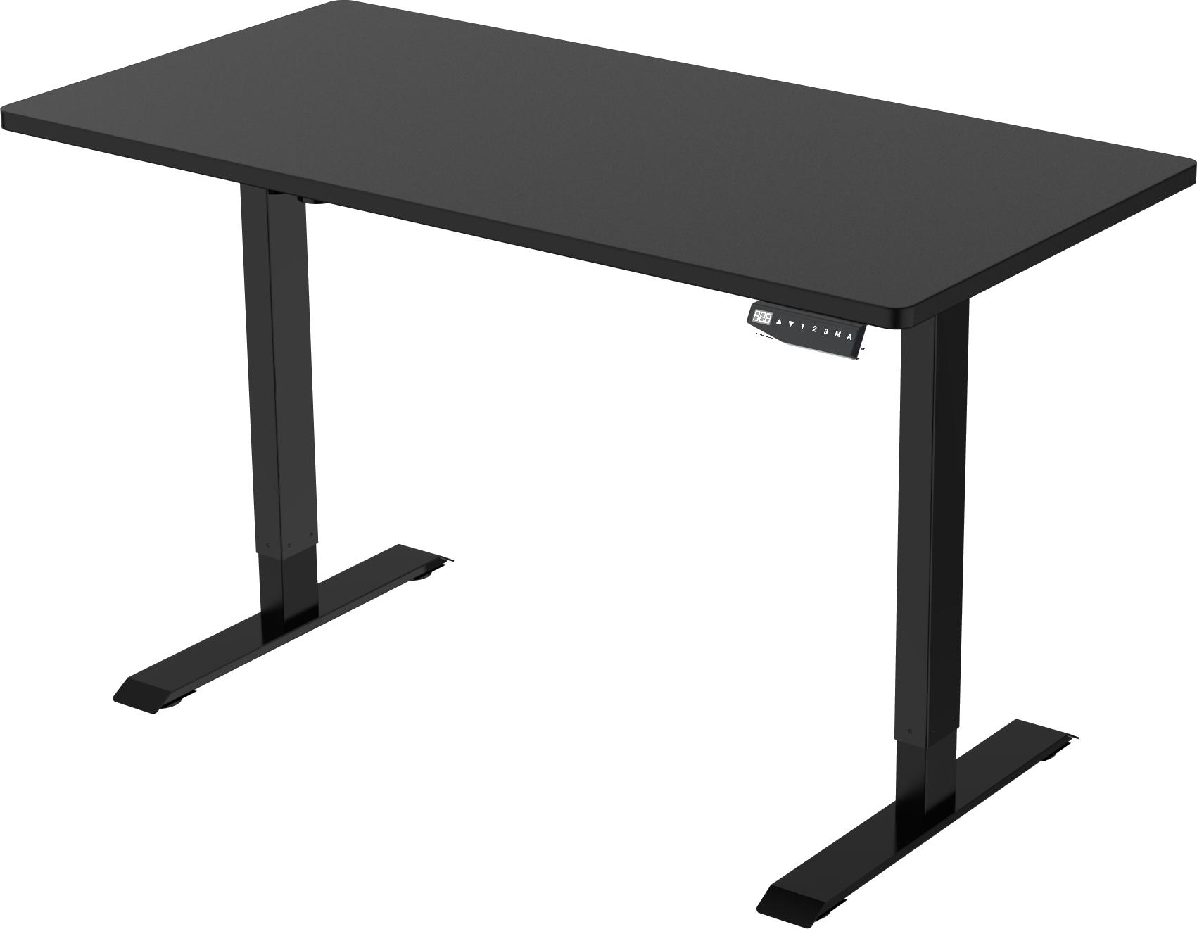 Element Stand Desk - Black Frame - Black Top - Front Right