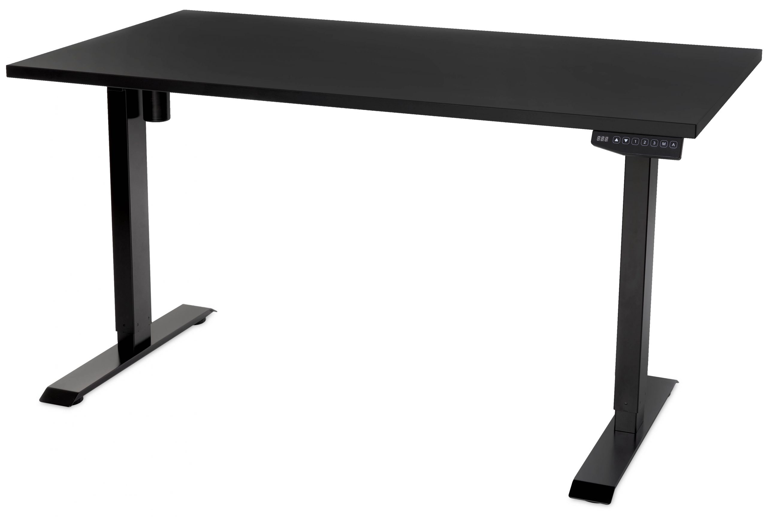 Element Standing Desk Black with Black Top