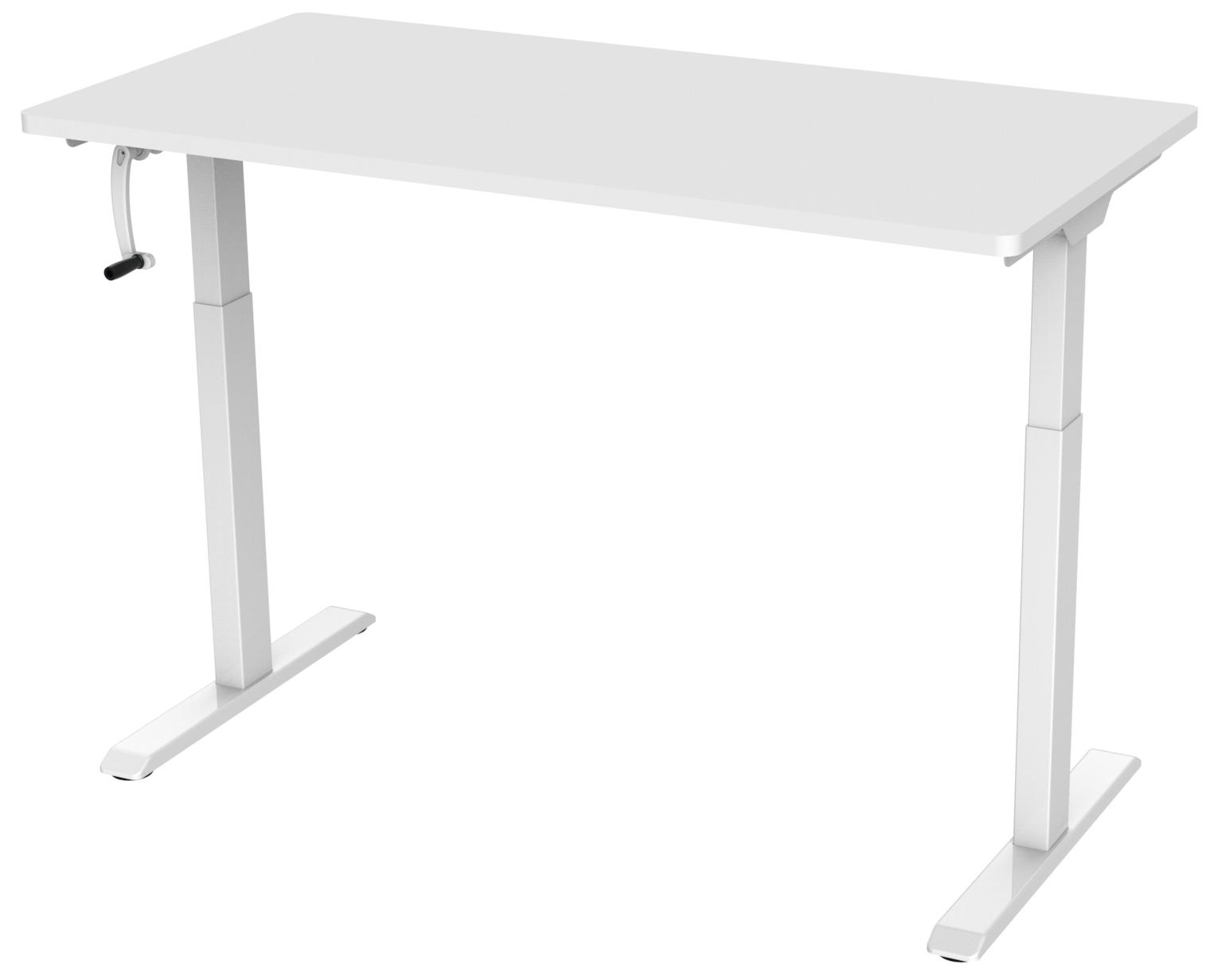Manual Stand Desk White