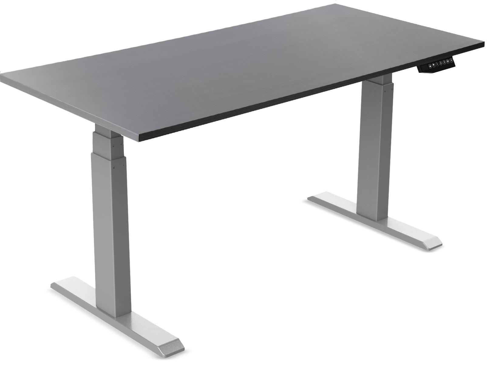 Vantage Standing Desk Grey with Grey Desktop